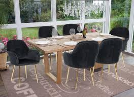6x esszimmerstuhl hwc f18 stuhl küchenstuhl retro design samt schwarz goldene beine