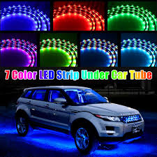 100 Led Interior Lights For Trucks TSV 7 Color LED Strip Under Car Tube Underglow