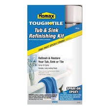 Bath Resurfacing Kits Diy by Homax 32 Oz White Tough As Tile One Part Epoxy Aerosol 2 16 Oz