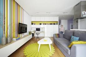 Apartment Cream Wall Paint Color Using Glass Windows Square Shaped Green Carpet Area White Studio Decor