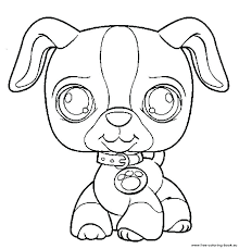 White Coloring Pages Beagle Animal Littlest Pet Shop Printable Free Realistic Great Shark