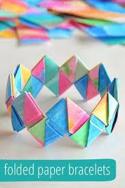 How To Make Folded Paper Bracelets