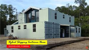 100 Metal Shipping Container Homes 4000 Sqft Hybrid Home In Dunnellon Florida