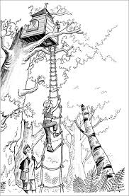 Tree Coloring Pages Magic House Jack And Annie