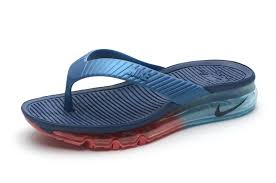 Business Nike Air Max Flip Flops Shoes Sandals Slipper Beach Wading Red With