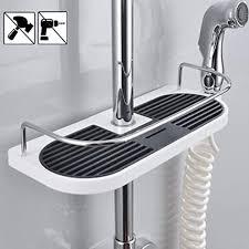 duschablage für die duschstange latern ohne bohren dusche ablage badezimmer dusche rack verstellbar höhe für duschstange mit durchmesser 19mm