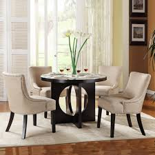 Stylish Round White Dining Table Set Room Tables Trend Modern In