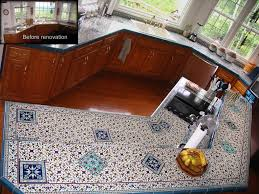 Moravian Tile Works Catalog by Custom Hand Painted Ceramic Tile Kitchen Countertop For One Of My