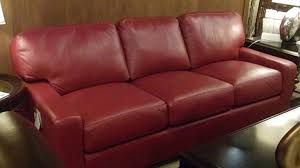 Red Leather Couch Living Room Ideas by Red Leather Sofa 4353