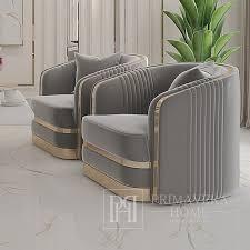 moderner sessel madonna für das wohnzimmer esszimmer gold grau