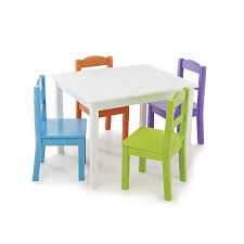 Tot Tutors Brights Wood Table & 4 Chairs | Toys