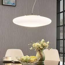 leuchten leuchtmittel led hängele gunda flach weiß opal