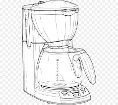 Coffeemaker Cafe Brewed Coffee Drawing
