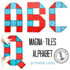 Picasso Tiles Magnetic Building Blocks by Magna Tiles Alphabet Printable Cards Adventure In A Box