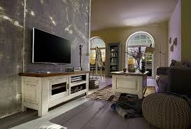 tv lowboard ariège 134x55x43cm eiche massiv vollholz fernsehkommode 2farbig vintage
