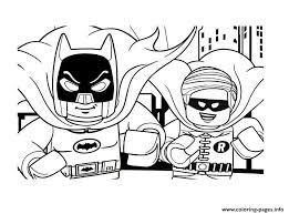 DC Comics Super Heroes LEGO Batman Movie 2017 Coloring Pages Print Download
