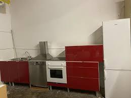 küche ikea rot mit geräten lieferung montage möglich