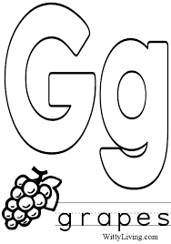 Vibrant Letter G Coloring Page 7 20327
