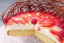 veganer erdbeer pudding kuchen