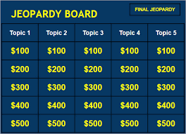 Make Your Own Jeopardy Game