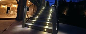 led staircase accent lighting outdoor recessed lights stair at