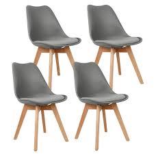 4er set design esszimmerstuhl kunstleder polstersessel loungesessel stuhl küche esszimmer dunkelgrau