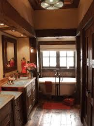 Rustic Bathroom Lighting Ideas by White Rustic Bathroom Interior Design