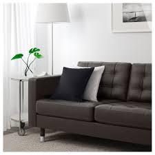 Brown Leather Sofa Bed Ikea by Landskrona Sofa Grann Bomstad Black Wood Ikea