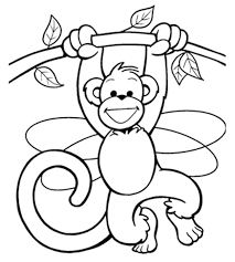 Popular Monkey Coloring Pages Cool Design Gallery Ideas