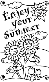 Enjoy Your Summer Coloring Page