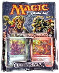 Mtg Revised Starter Deck Contents by Magic The Gathering Elves Vs Goblins Duel Deck Ex Box Mt Pack