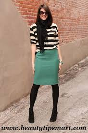 How To Wear A Pencil Skirt Casually For Work In Winter