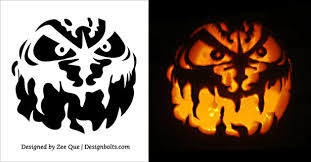 Scariest Pumpkin Carving by 5 Free Scary Halloween Pumpkin Carving Stencils Printable