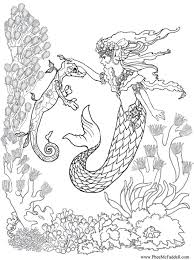 Detailed Mermaid Adults Coloring Pages