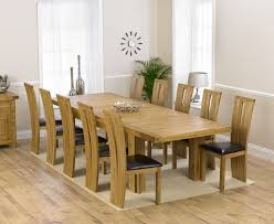 Loire Solid Oak 230cm Extending DIning Table With 6 Montreal Brown Chairs