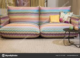 100 Missoni Sofa Couch On Display At HOMI 2018 Stock Editorial
