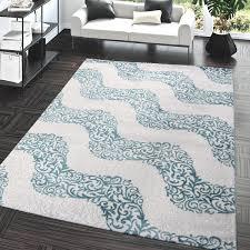 bettumrandung design wellen teppich kurzflor schlafzimmer