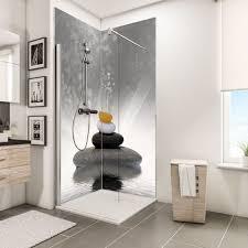 schulte duschrückwand über eck 2 x 90x210 cm wandverkleidung aus alu dibond als fugenloser fliesenersatz motiv zen steine grau