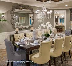 Elegant Dining Room In Taupe Gray Color Trends 2014