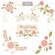 Flower Corner Frame Wedding Floral Clip Art Hand