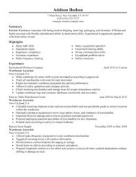 Resume For Warehouse Packer Awesome Assistant Sample Forklift