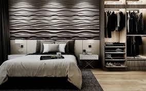 schlafzimmer wandgestaltung mit 3d effekt und betonlook homify