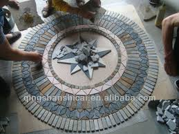 rectangle mixed color slate tile floor medallions patterns buy
