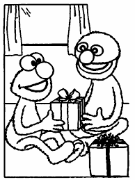 Gallery Of Elmo Christmas Coloring Pages
