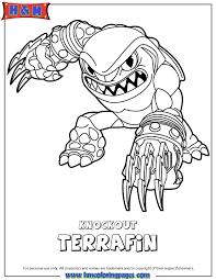 Skylanders Swap Force Earth Knockout Terrafin Coloring Page