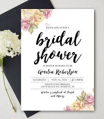 Editable Bridal Shower Invitation Watercolor Flowers PDF Instant