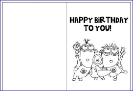 Happy Birthday Cards Printable To Color Print And