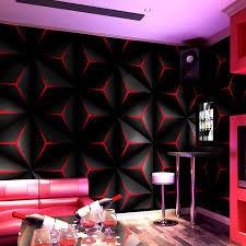 großhandel schwarz rot gold textur tapete rolle geometrische streifen muster modern fashion vinyl pvc wand papier wohnzimmer wohnkultur nmm367