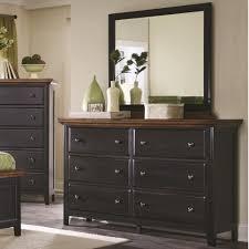 Black Dresser 6 Drawer by Coaster 203153 Mabel Merlot Black Sand Through 6 Drawers Dresser