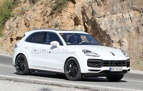 2018 Porsche Cayenne Smiles For The Camera Wearing All White ...